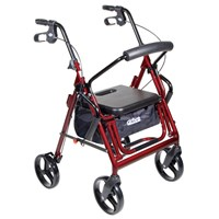 Drive Duet Transport Chair and Rollator - Burgundy