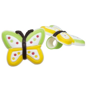 Tube Rider for BTE Hearing Aids and Cochlear Implants- Green and Yellow Butterfly