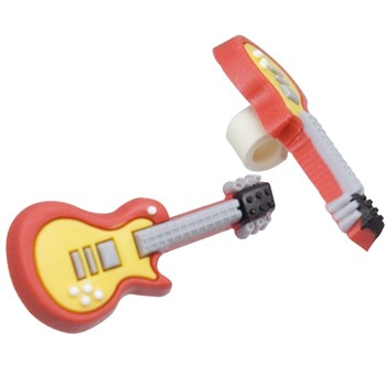 Tube Rider for BTE Hearing Aids and Cochlear Implants- Red Guitar