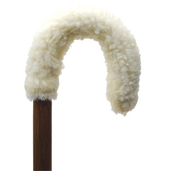 Fleece Curved Handle Cane Grip Cover