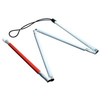 Gripless EZ ID Folding 4-Section Cane - 36 inches