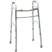 Deluxe Folding Junior Walker - Two Button