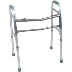Oversized Aluminum Folding Walker - 2 Button-Jr