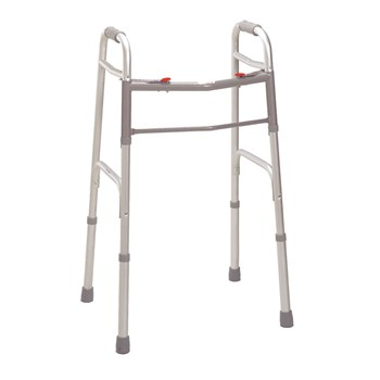 Two Button Deluxe Folding Walker - Adult