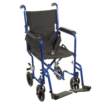 Drive Deluxe Lightweight Transport Chair- Blue