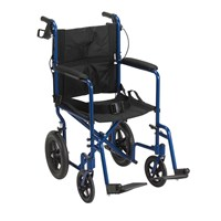 Drive Expedition Aluminum Transport Chair- Blue