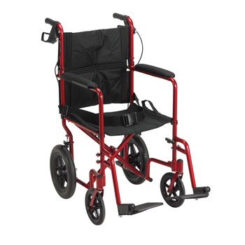 Drive Expedition Aluminum Transport Chair- Red
