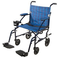 Drive Fly Lite Lightweight Transport Chair- Blue