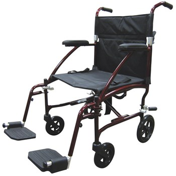 Drive Fly Lite Lightweight Transport Chair- Red