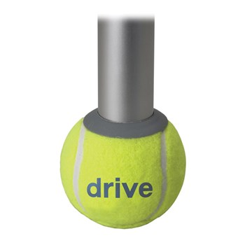 Tennis ball with glides in can with replacement glide pads