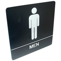 Tactile Braille Signs - Men; Bathroom