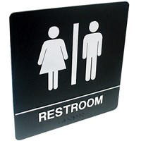 Tactile Braille Signs - Rest Room; Unisex