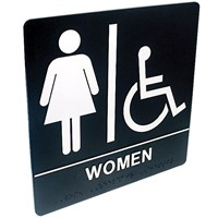 Tactile Braille Signs - Women; Handicap