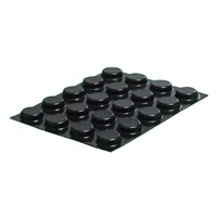 Bump Dots - Black, Small Flat-Top Round Bump Dots