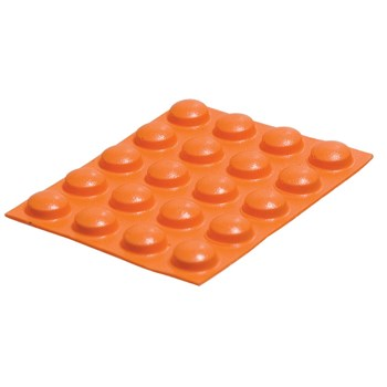 Bump Dots- Large, Orange, Round - 20 pcs.
