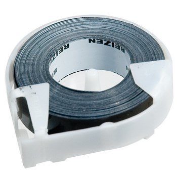 Reizen Black Vinyl Label Tape - Single Roll .50 x 144 inches