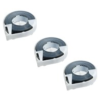 Reizen Black Vinyl Label Tape - Three Rolls .50 x 144 inches