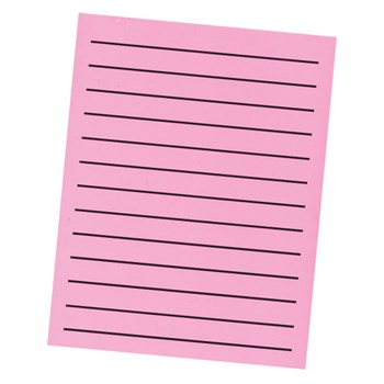 Bold Line Paper Pad in Neon Pink with Black Lines - 90 Sheets