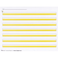 Widelines Highlighter Writing Paper -Package of 50