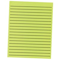 Thick Line Paper Pad in Neon Green with Black Lines- 90 Sheets