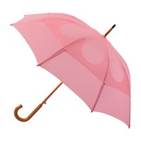 Classic Umbrella with Wooden J-Handle - Pink