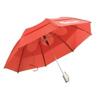 Folding Umbrella - Red with White MaxiAids Logo