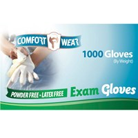 Clear Vinyl Exam Gloves - Small - 100-bx