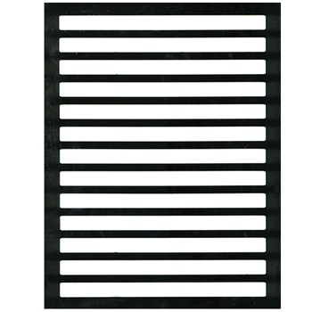 Letter Writing Guide - Regular Black Plastic