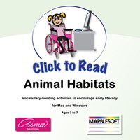 Click to Read- Animal Habitats- 5 Users -Software