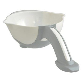 Ableware Stay Bowl with Non Skid Base White-Light Gray