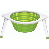 Large Collapsible Colander with Folding Stand