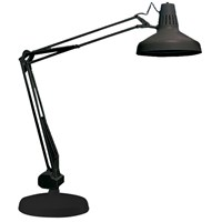 Combo 22W Circline-14W Compact Fluor Light-Base-Black