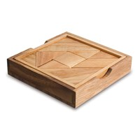 Tangram- Tactile Square Wooden Puzzle