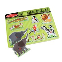 Sound Puzzle with Braille Pieces- Zoo Animals
