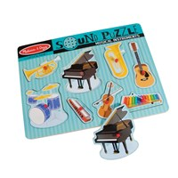 Sound Puzzle w-Braille Pieces- Musical Instruments