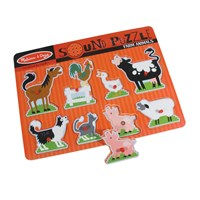 Sound Puzzle with Braille Pieces- Farm Animals