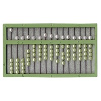 Picture of Abacus For The Blind - Green Frame - Green and White Beads