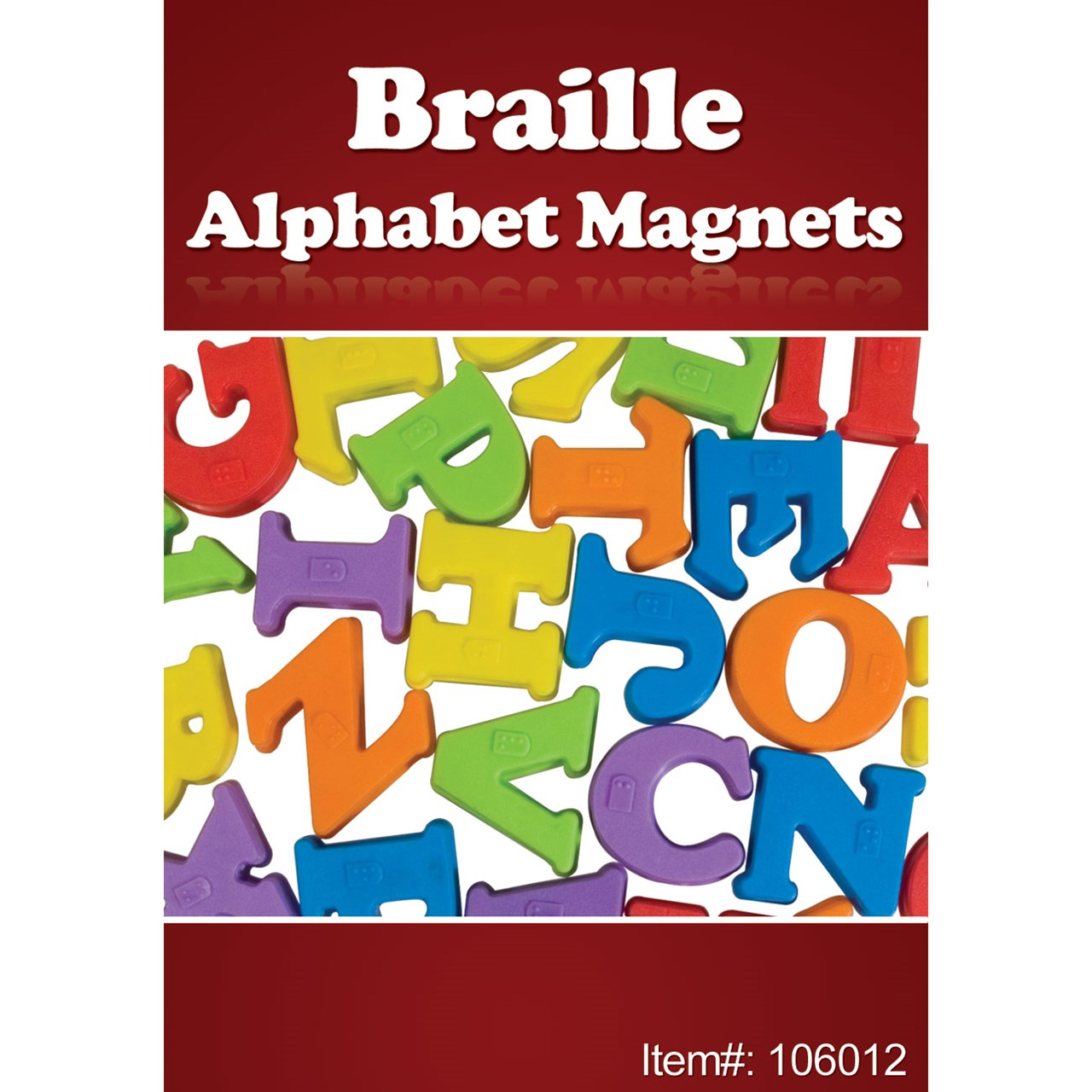 braille alphabet magnets 26 upper case letters