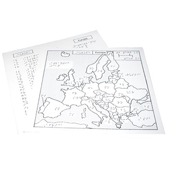 Braille Map Europe - 11.5 in. x 11 in.