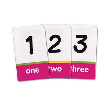 Brailled Low Vision Pocket Flash Cards Numbers