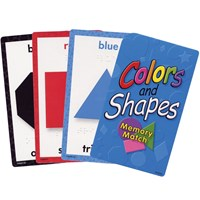 Colors and Shapes Memory Match- Braille Cards