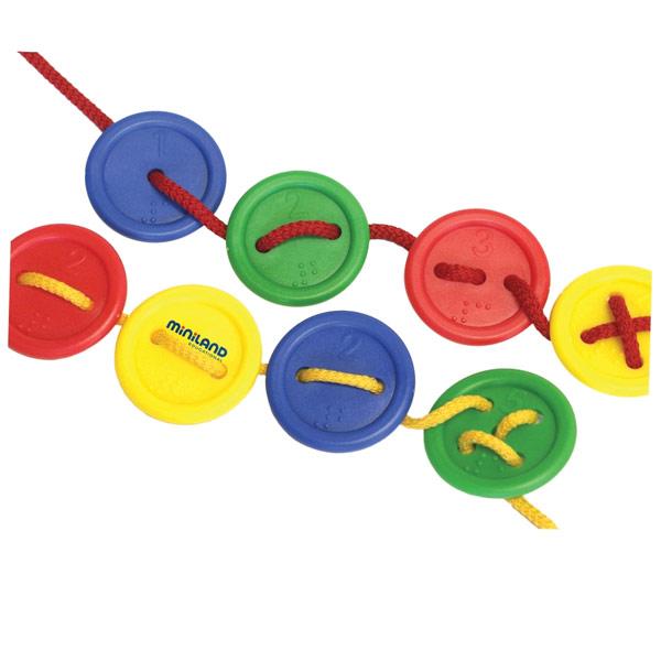 Lacing Buttons Tactile-Braille Activity Set - 140pc