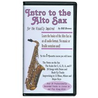 Intro to the Alto Sax for the Visually Impaired Set of 5 Audio Cassettes