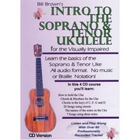 Intro to the Soprano and Tenor Ukulele for the Visually Impaired Set of 4 CDs