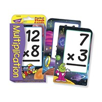 Low Vision Multiplication Flash Cards- Spanish
