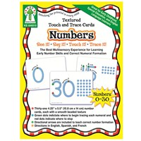 Textured Touch and Trace Cards- Numbers