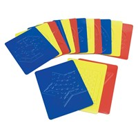 Teach Me Shapes- Tactile Rubbing Plates - 16 pcs