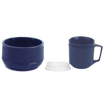 Weighted Bowl and cup w-Lid set