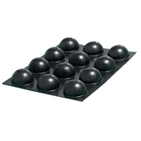 Bump Dots - Small, Black Round - 25 per package