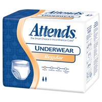 Attends Regular Absorbency Underwear- Med -80-cs